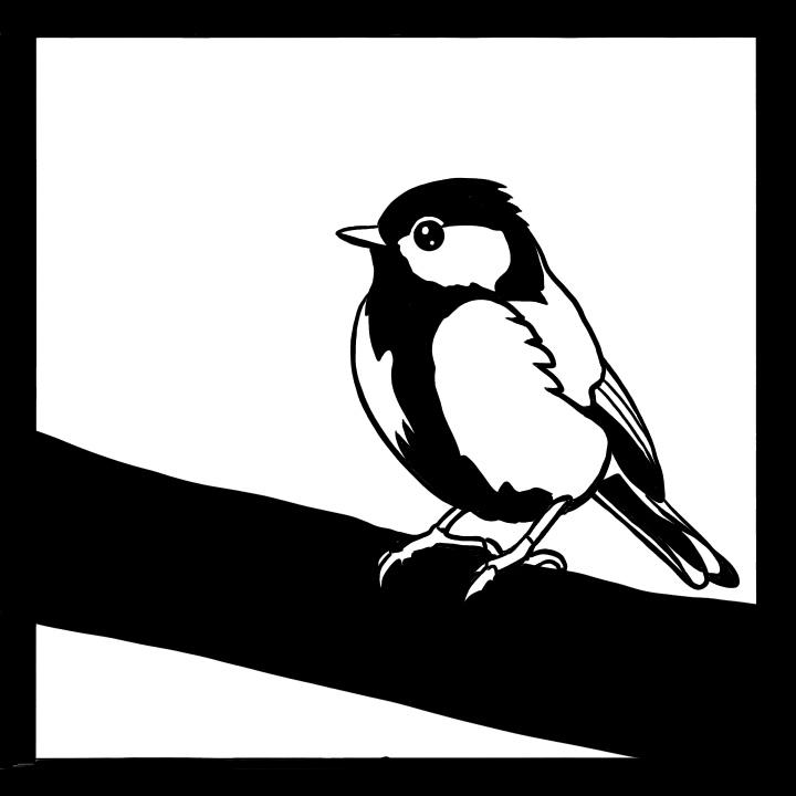 切り絵 図案 下絵 小鳥