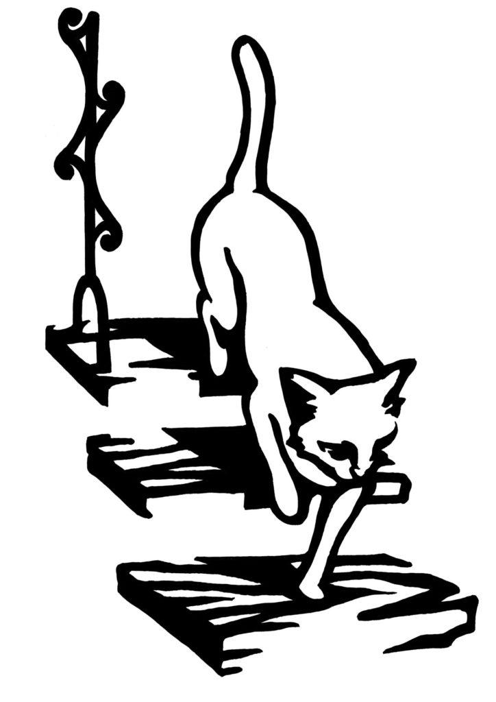 切り絵 図案 下絵 猫